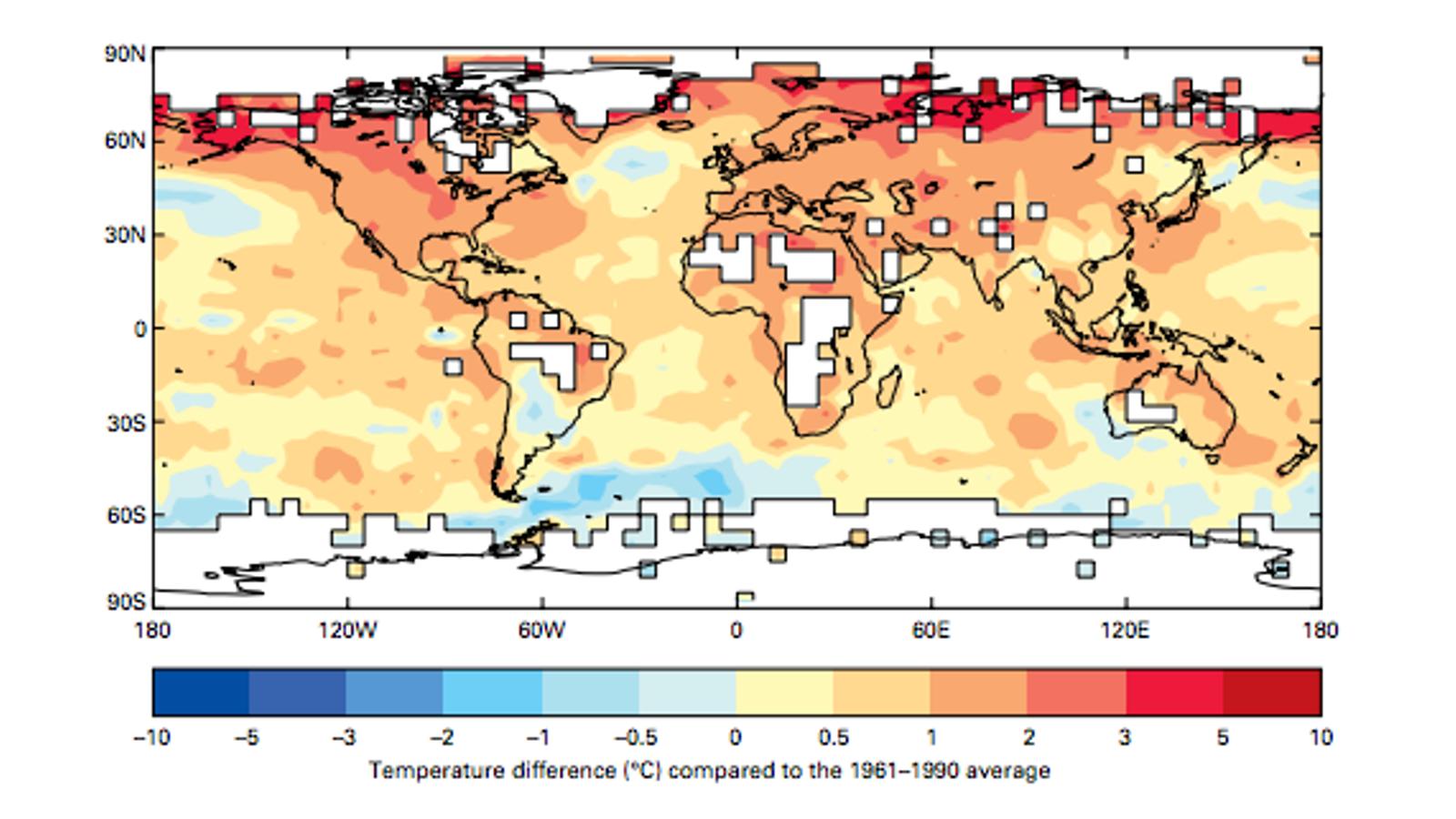El 2016 ha tornat a ser l'any més càlid a la Terra des que hi ha registres