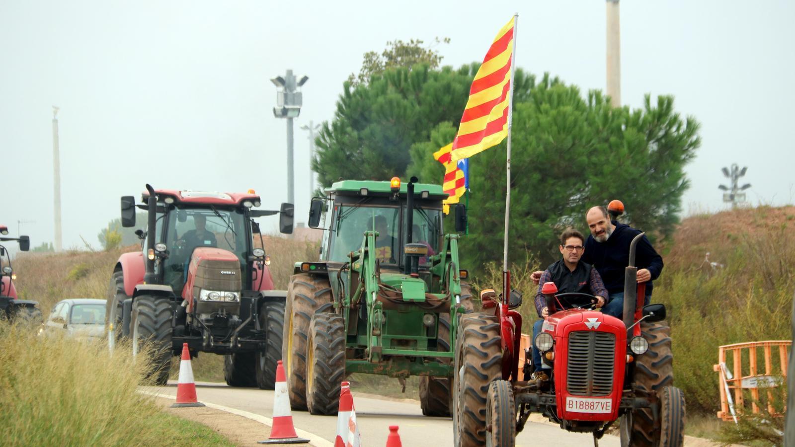 Tractorada a Lledoners