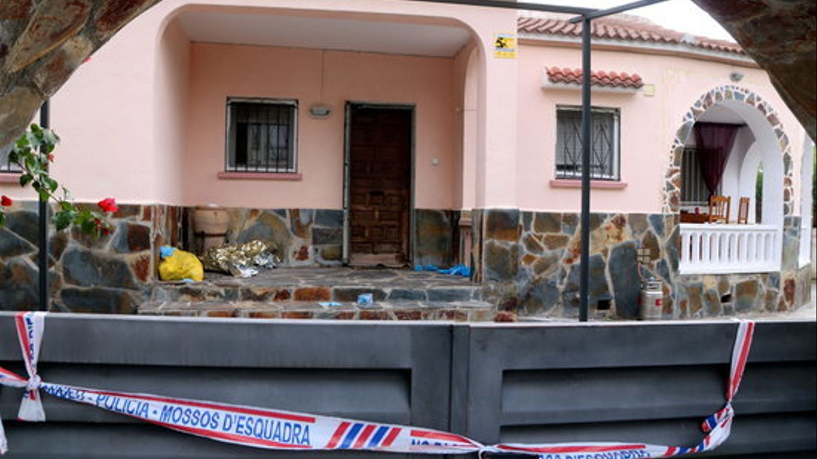 Imatge de la casa on s'ha produït l'homicidi