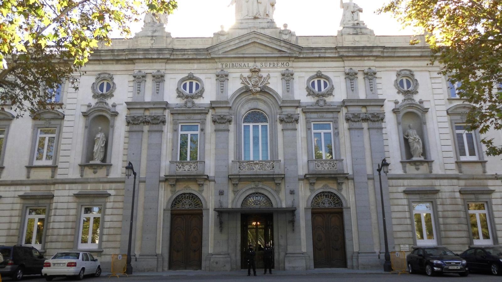 Façana del Tribunal Suprem en imatge d'arxiu