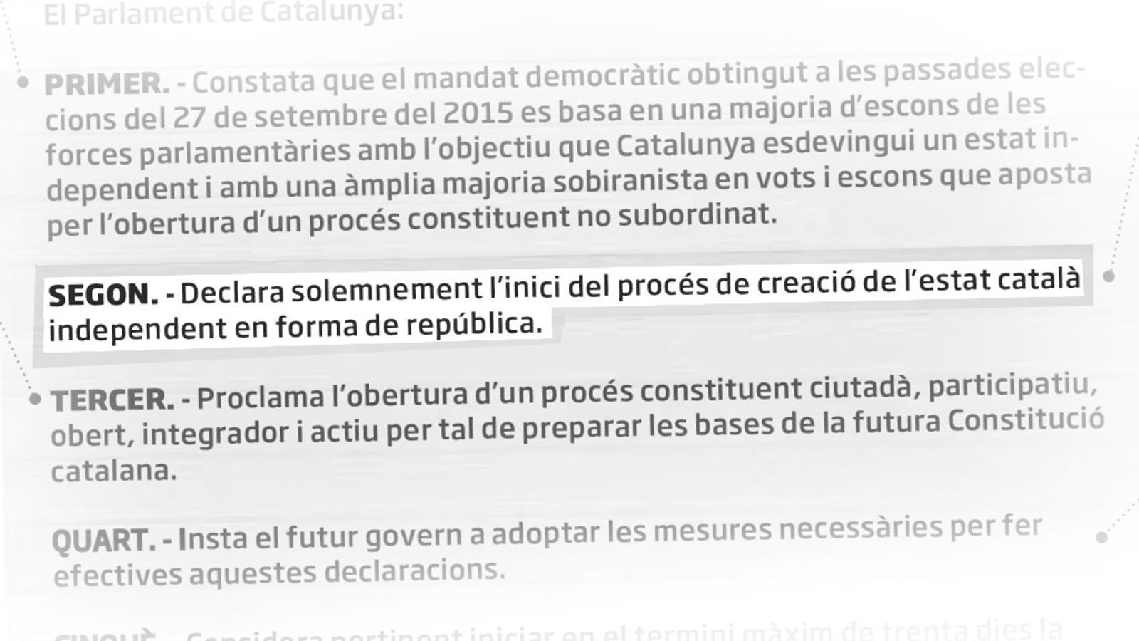 L'editorial d'Antoni Bassas: La declaració del Parlament