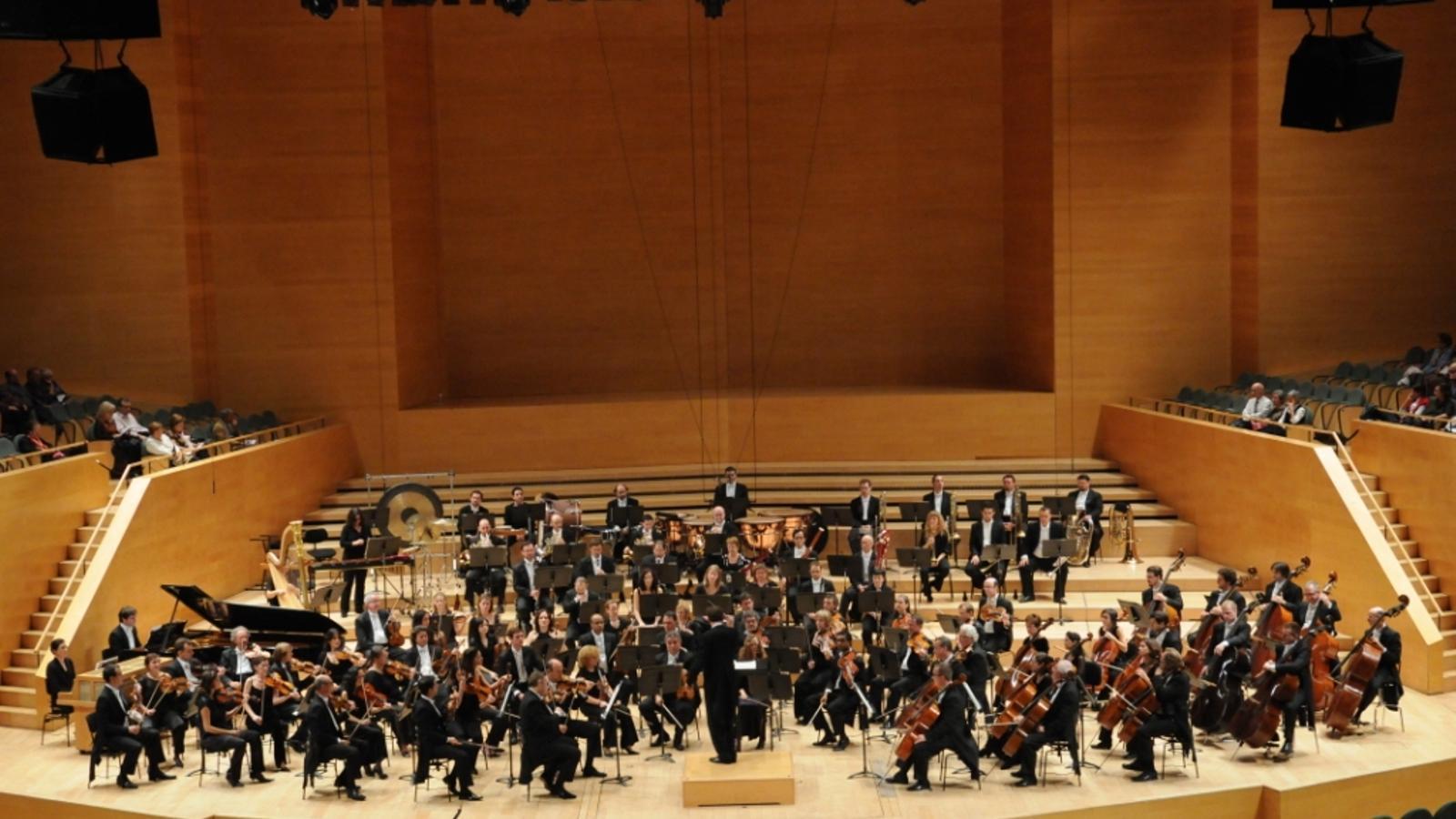 L'Orquesta Simfònica de Barcelona i Nacional de Catalunya (OBC), en una actuació a l'Auditori