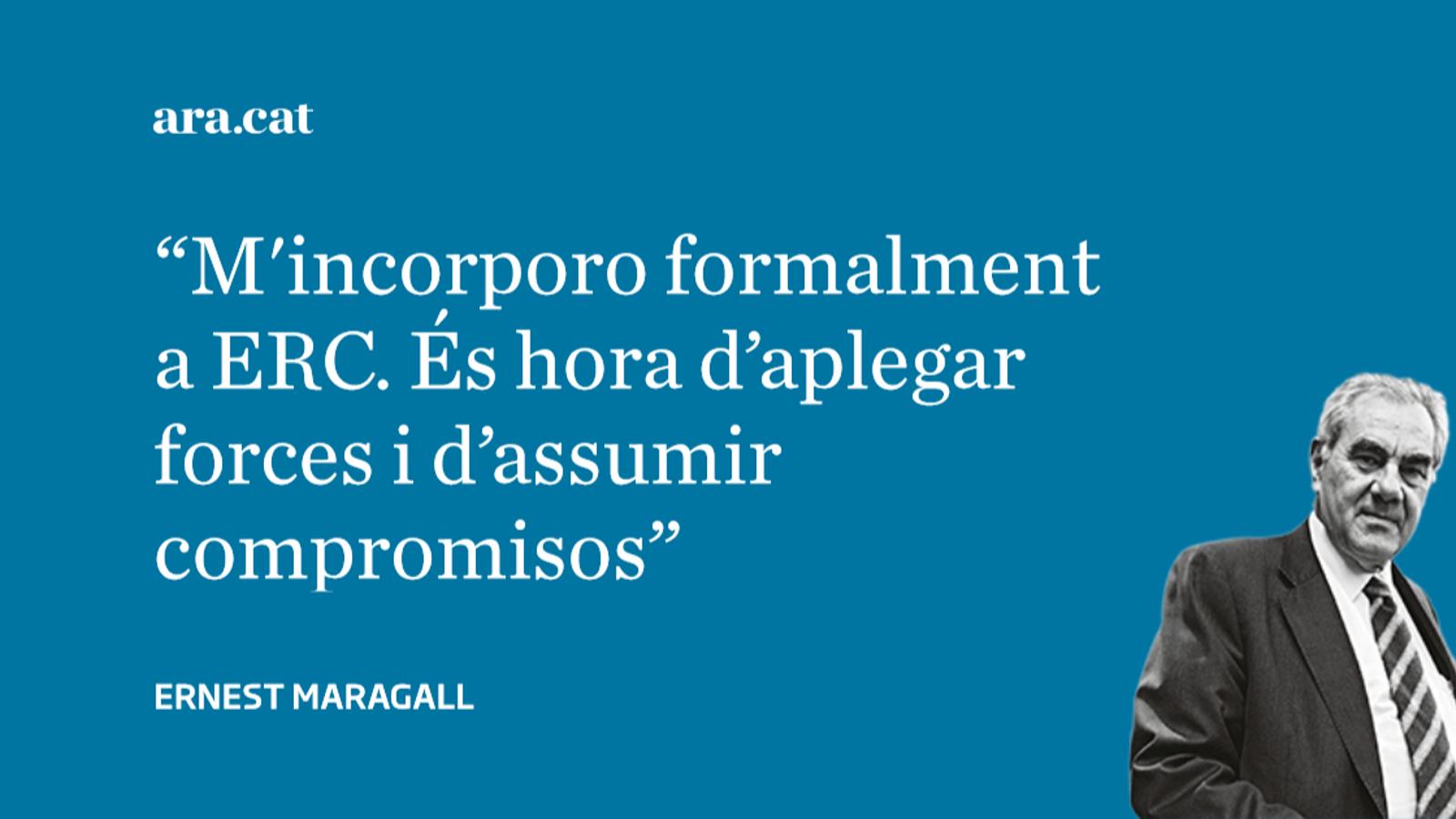 Carta d'Ernest Maragall a Oriol Junqueras i Marta Rovira