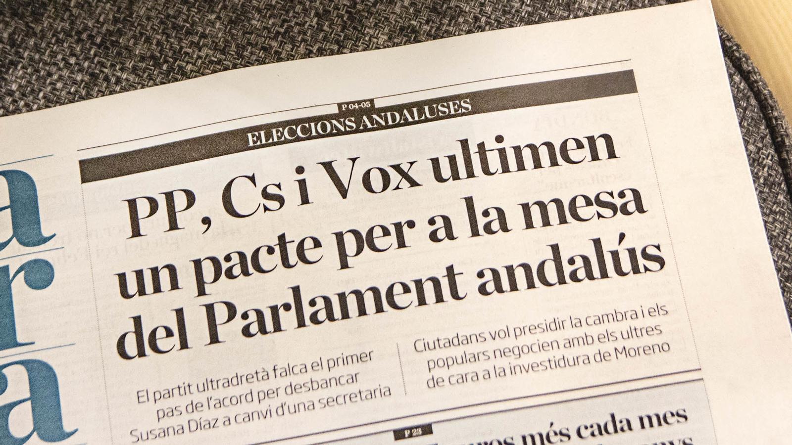 L'anàlisi d'Antoni Bassas:'Què diran Rivera i Arrimadas del pacte amb la ultradreta a Andalusia?'