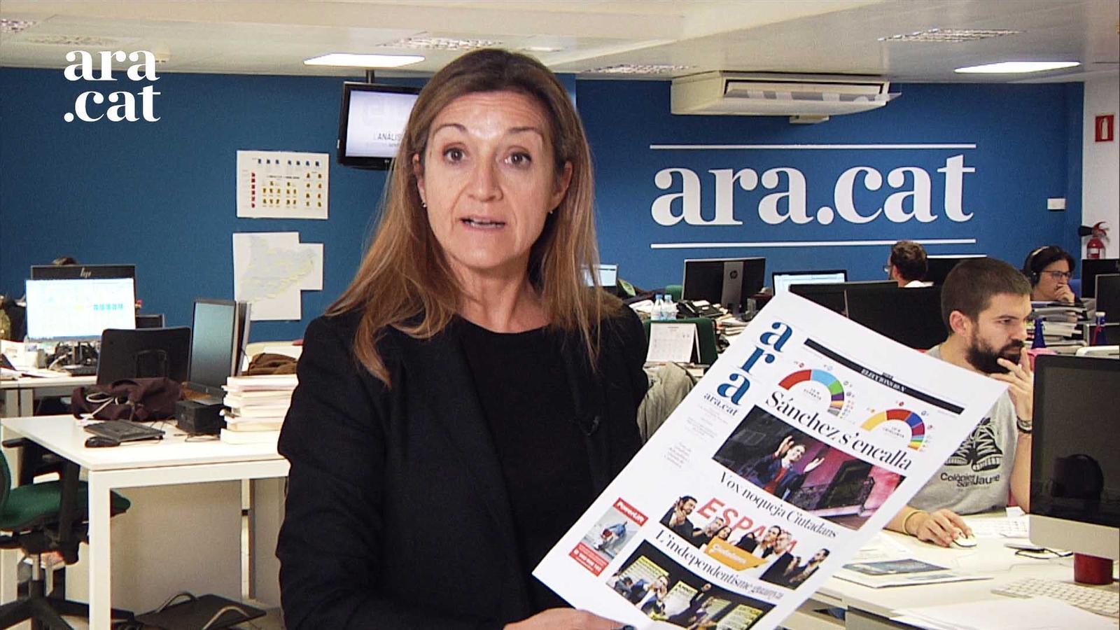 Esther Vera explica la portada i l'editorial de l'ARA després del 10-N