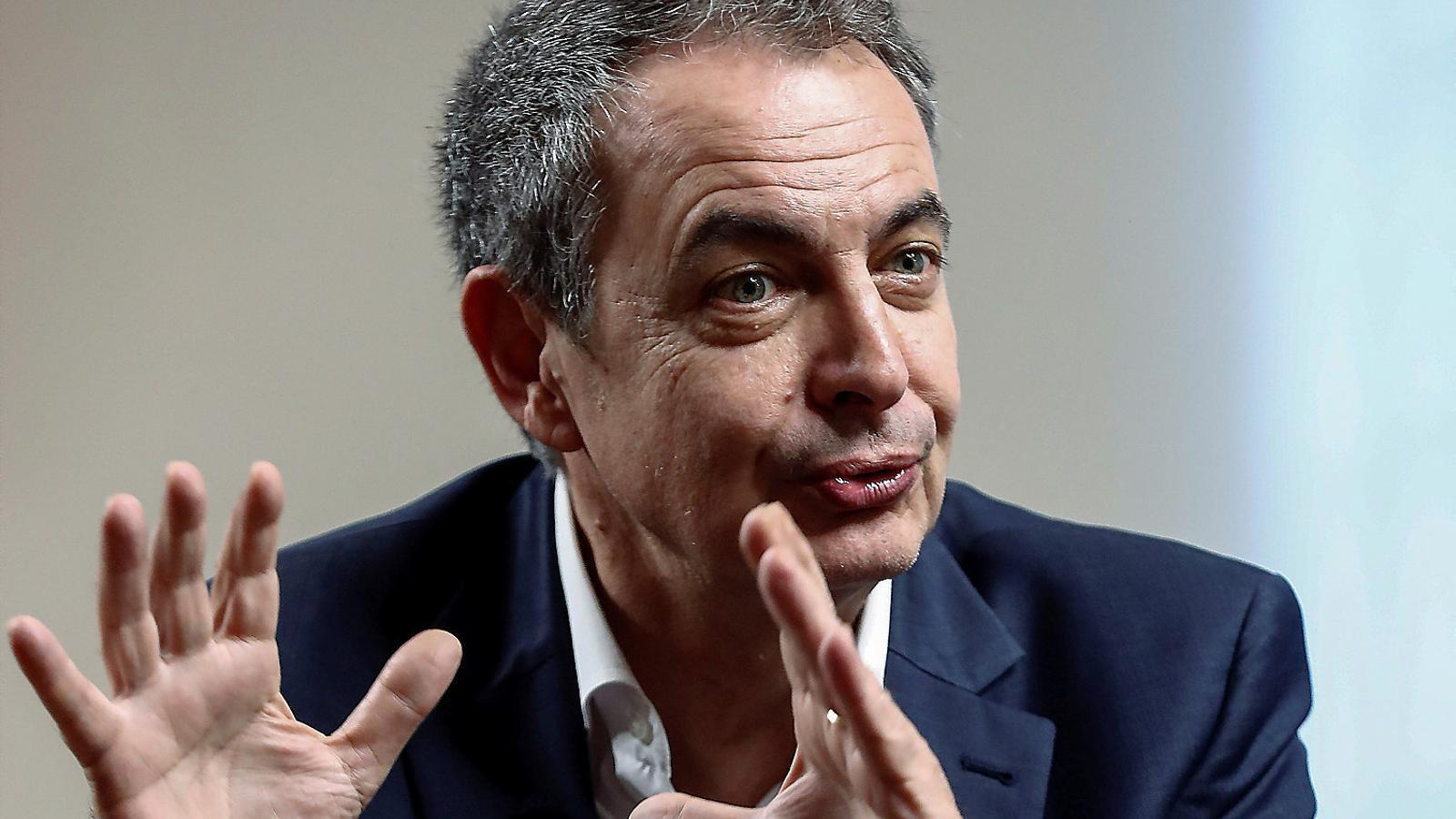 """Rodríguez Zapatero: """"Caldrà fer un acte de retrobament que recordi l'1-O, si no no es curaran les ferides"""""""