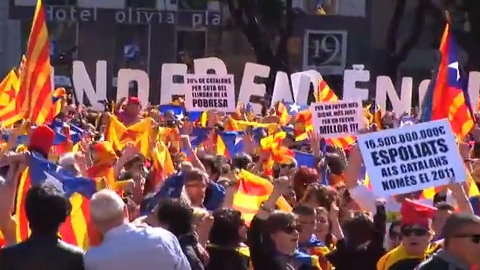 El 'flashmob' per la independència