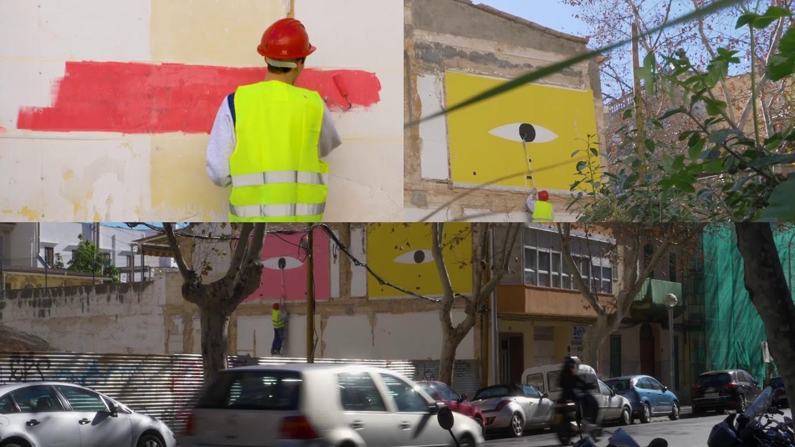 Intervenció de Grip Face al barri de Pere Garau.