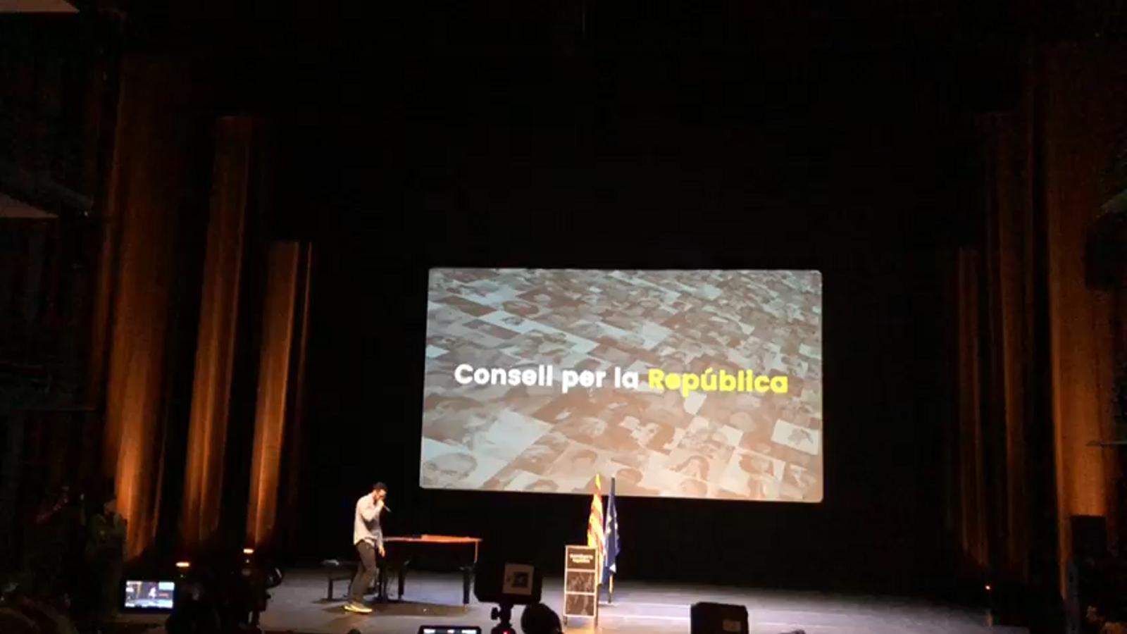 El rap de Valtonyc en la presentació del Consell per la República