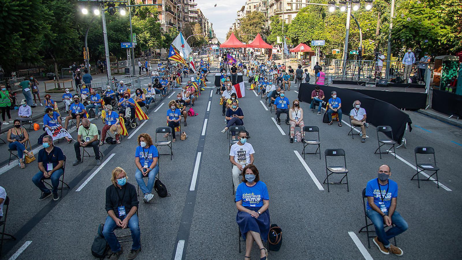 L'acte central de l'ANC es va fer a la plaça Letamendi de Barcelona.