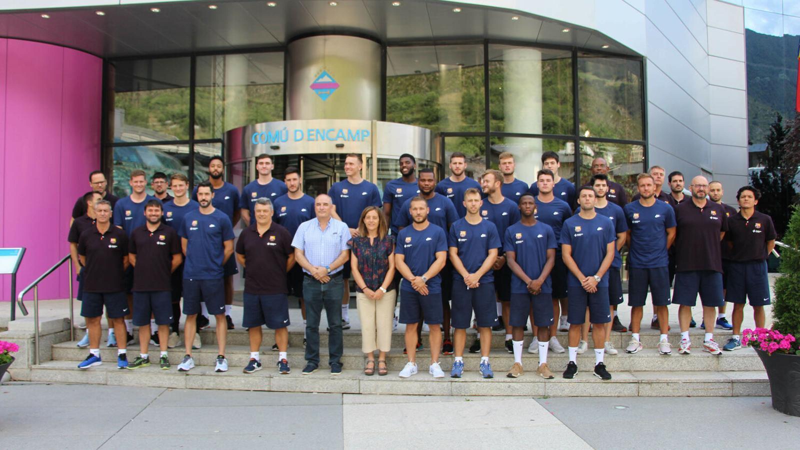 L'equip d'handbol del Barça durant la seva estada a Encamp l'any passat. / COMÚ D'ENCAMP