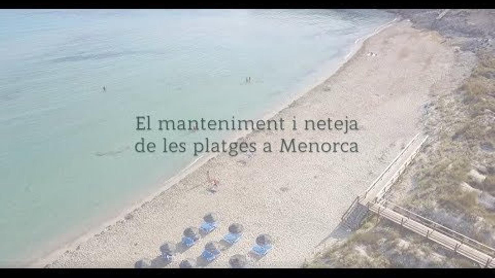 El Servei de Neteja de Platges de Menorca reivindica la seva feina a través d'un vídeo