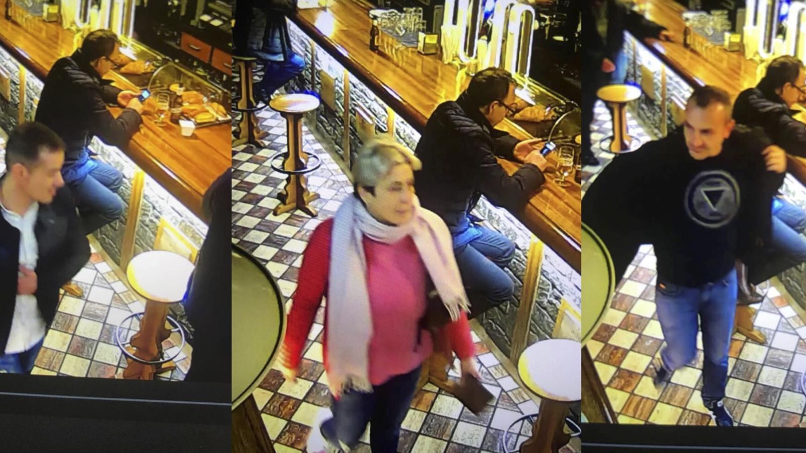 Les fotos dels presumptes carteristes, captades per les càmeres de videovigilància d'un dels locals.