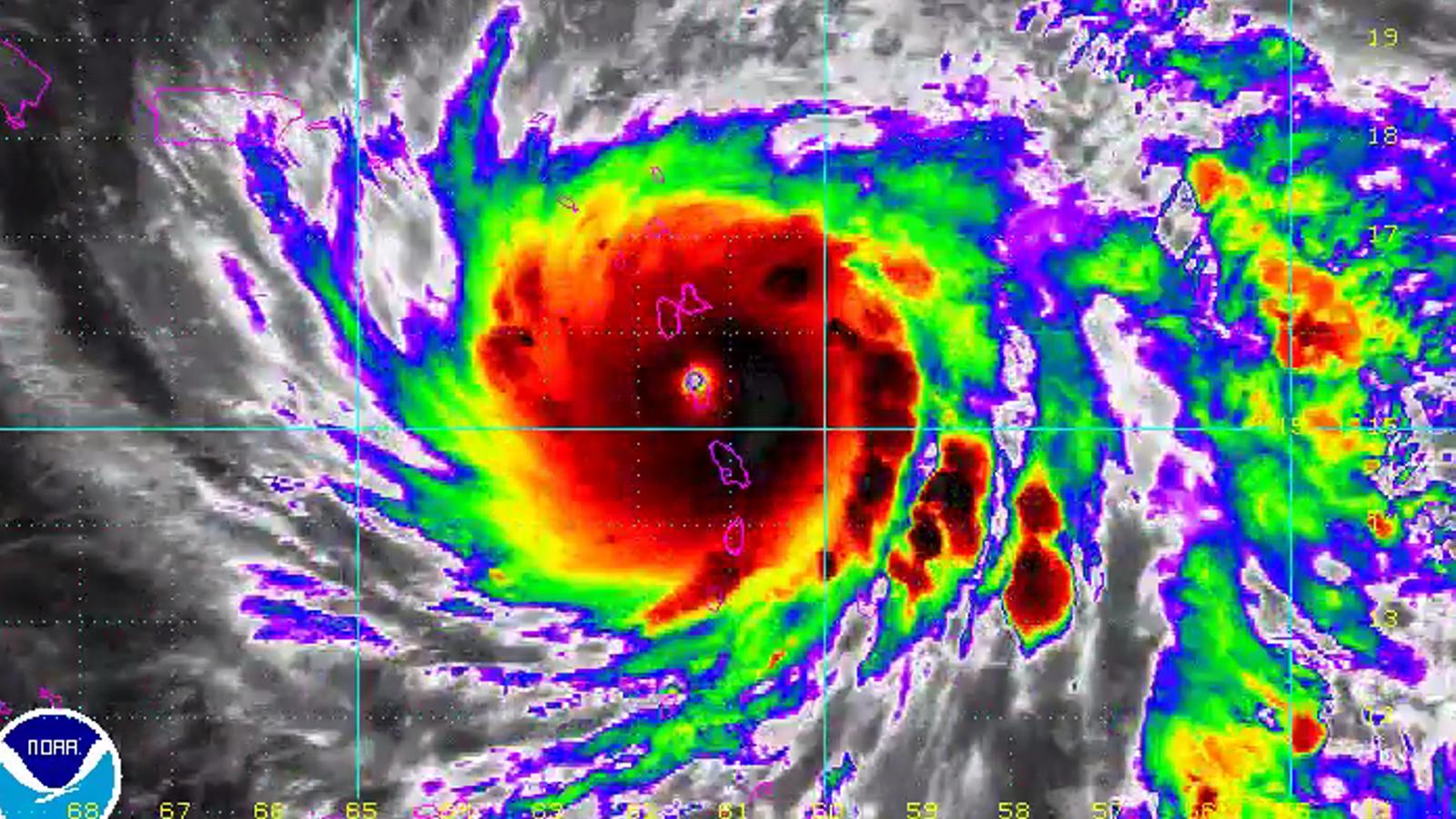 L'huracà 'Maria' s'enforteix i frega la categoria màxima