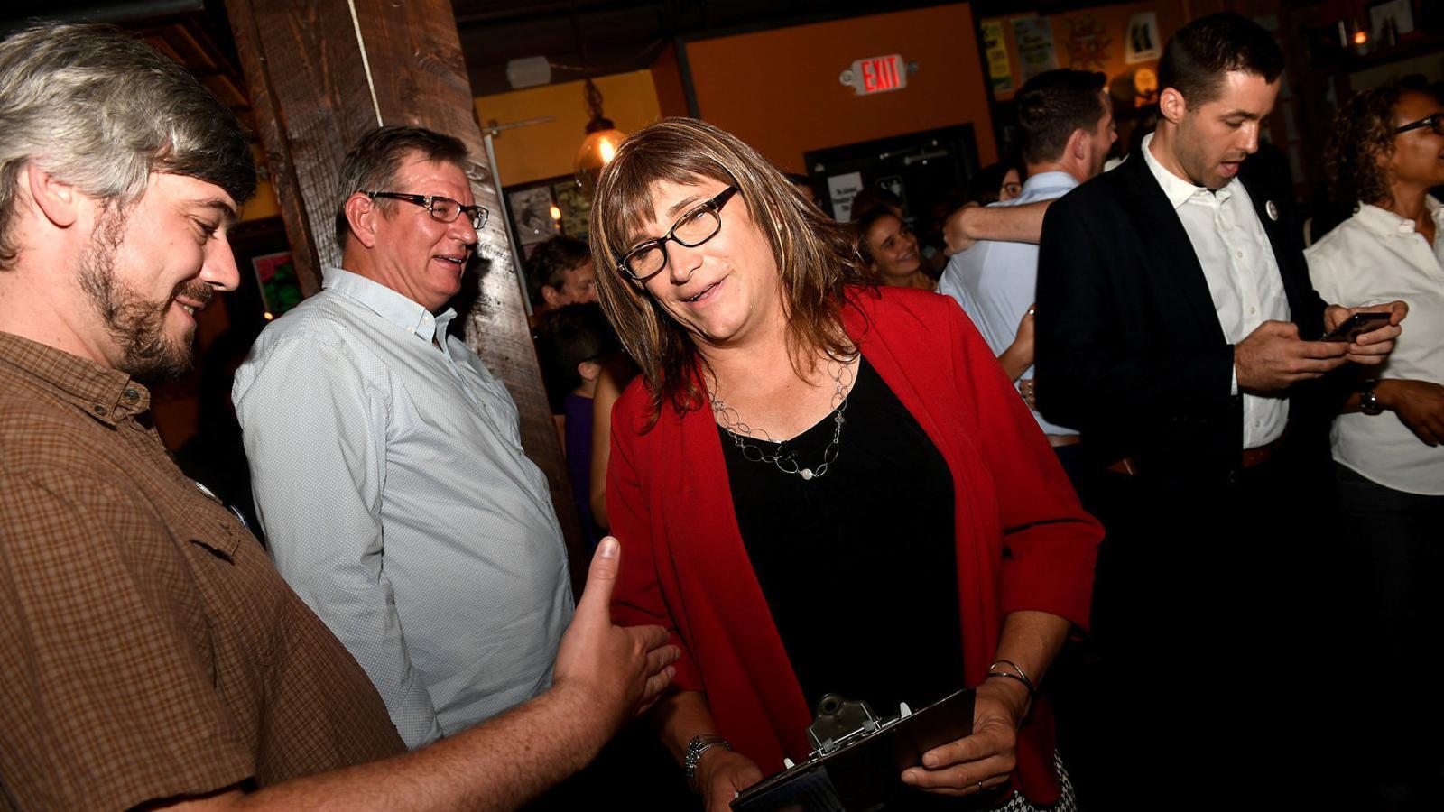 La candidata transgènere, després de guanyar les primàries demòcrates per a la governació a Vermont.