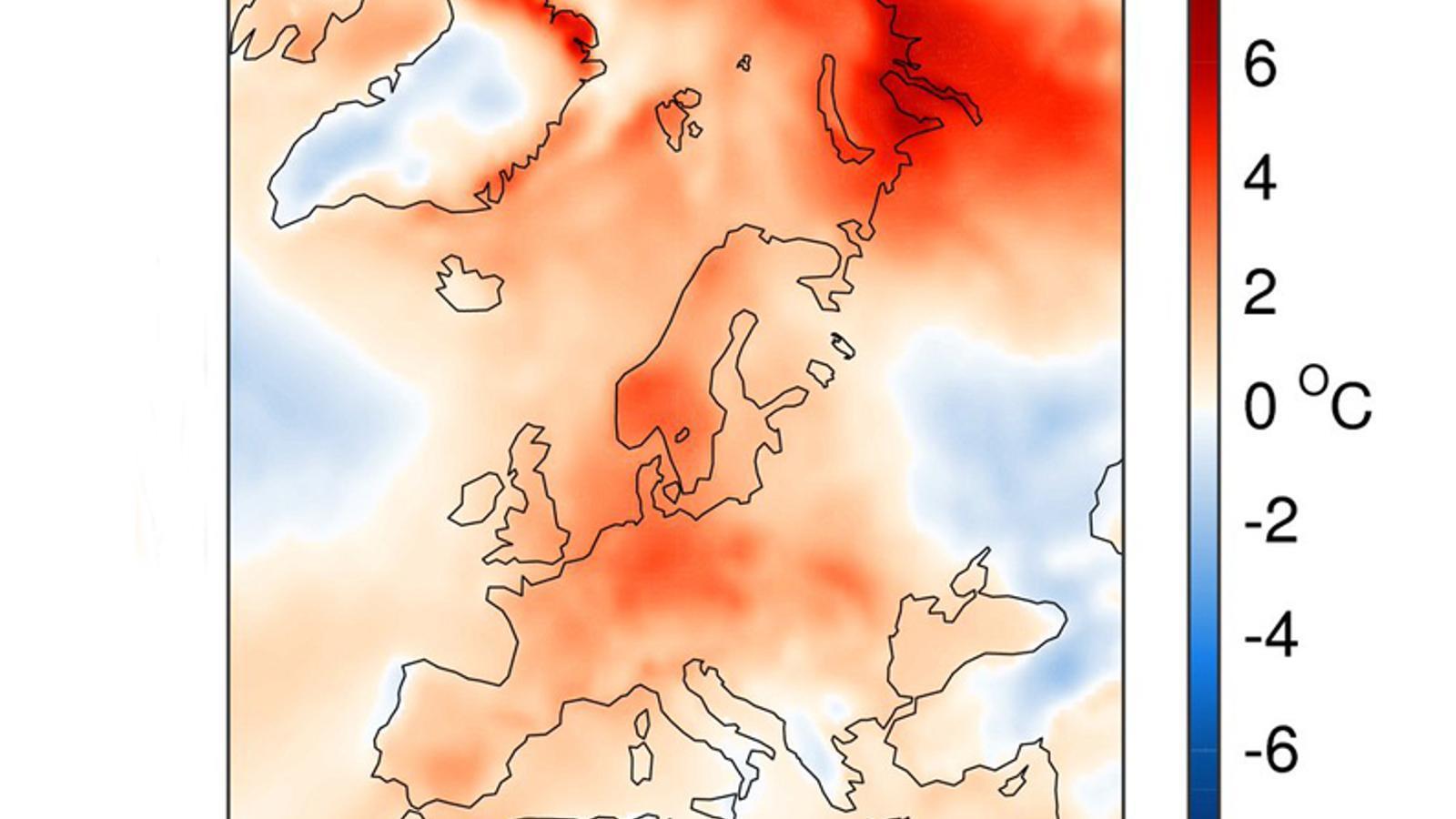 Anomalia tèrmica (ªC) de la temperatura durant el mes de setembre