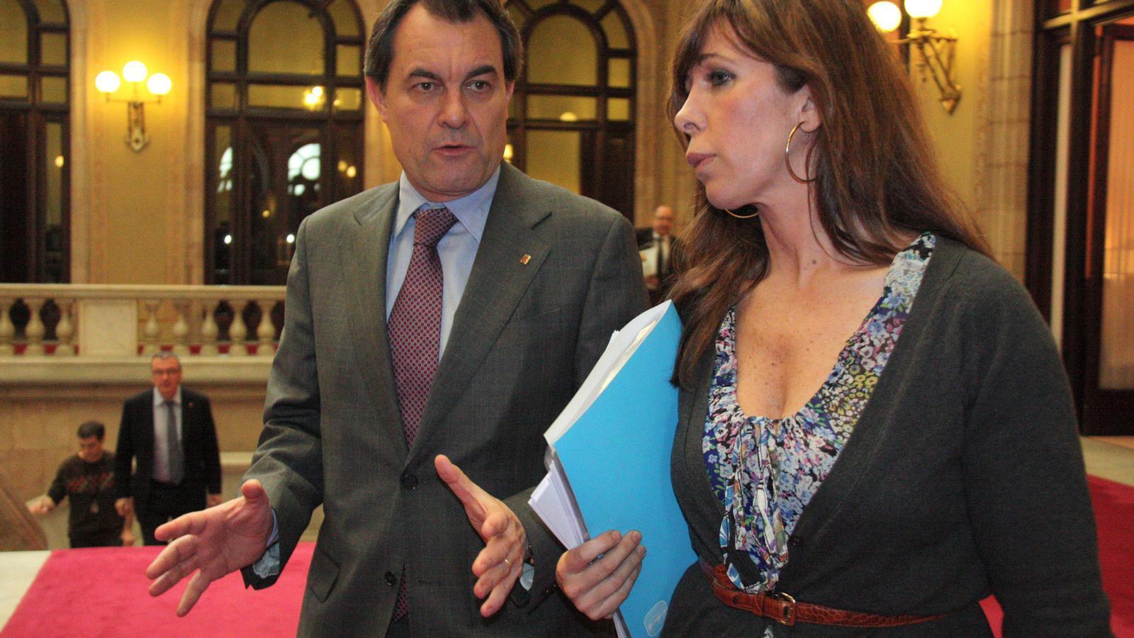 Artur Mas, després de reunir-se amb Sánchez-Camacho al Parlament