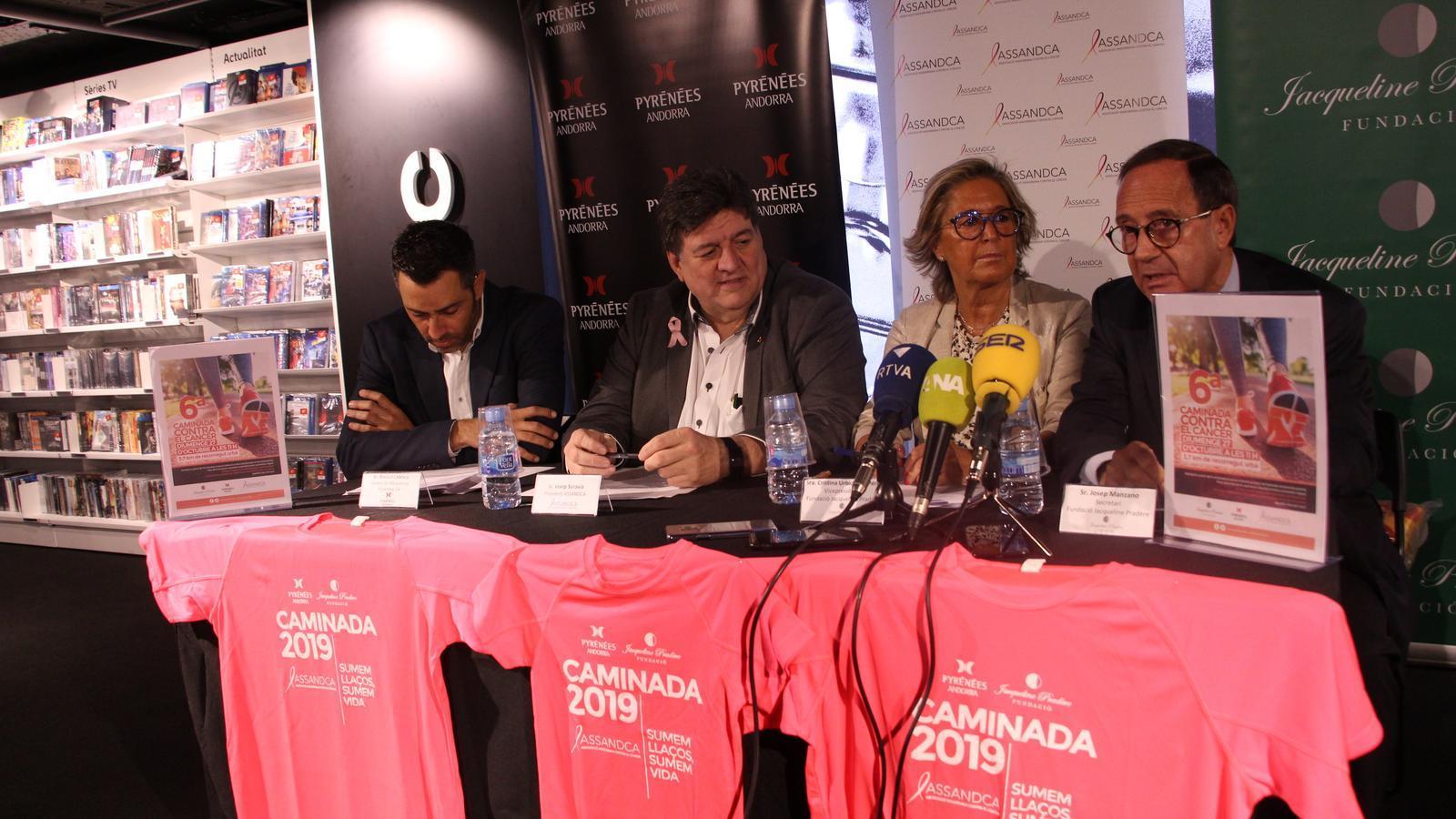 Presentació de la 6a edició de la caminada solidària contra el càncer. / A.S.