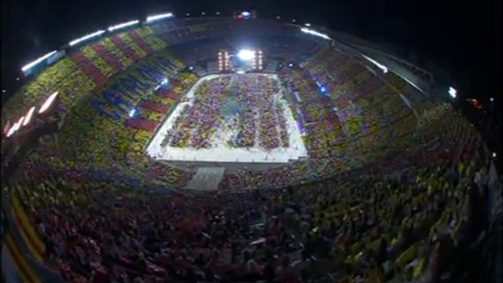 Mosaic al Concert per la Llibertat al Camp Nou