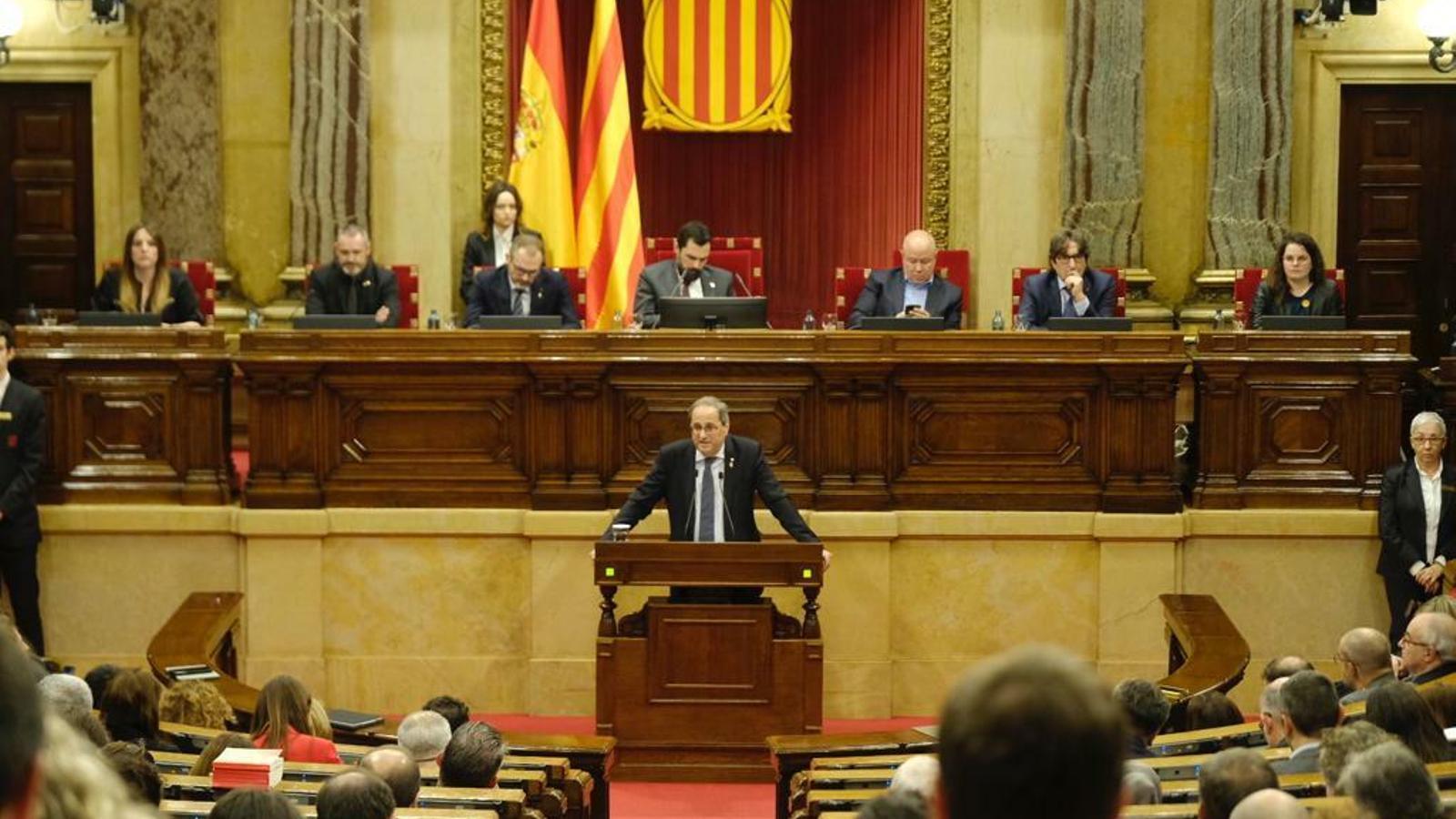 El Parlament reafirma Quim Torra com a president l'endemà de la resolució de la JEC