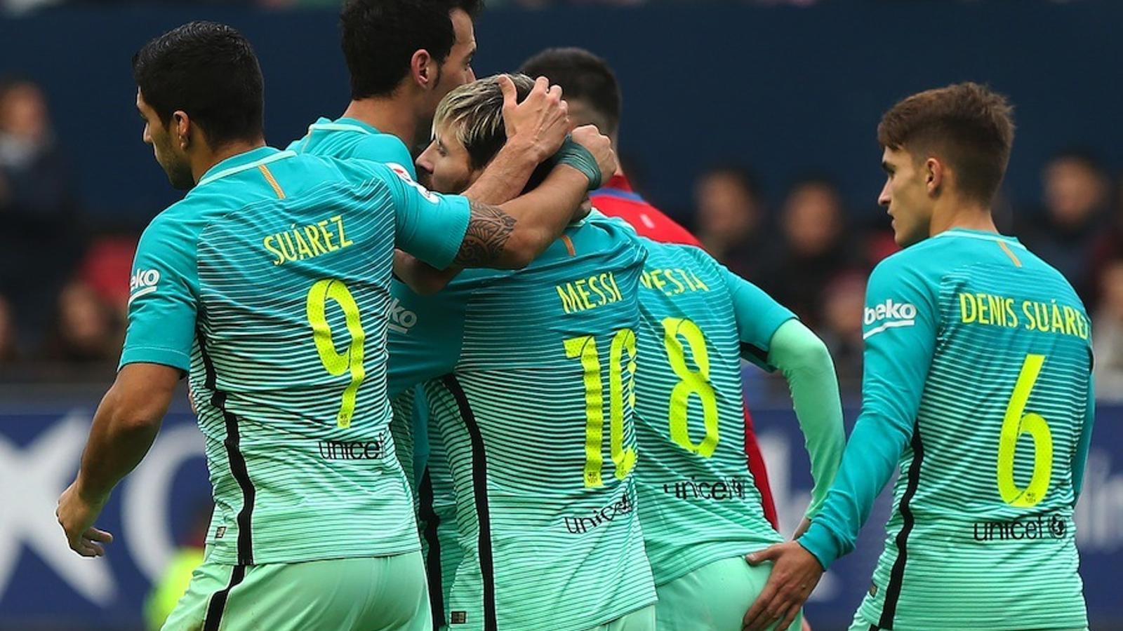 Celebració del Barça