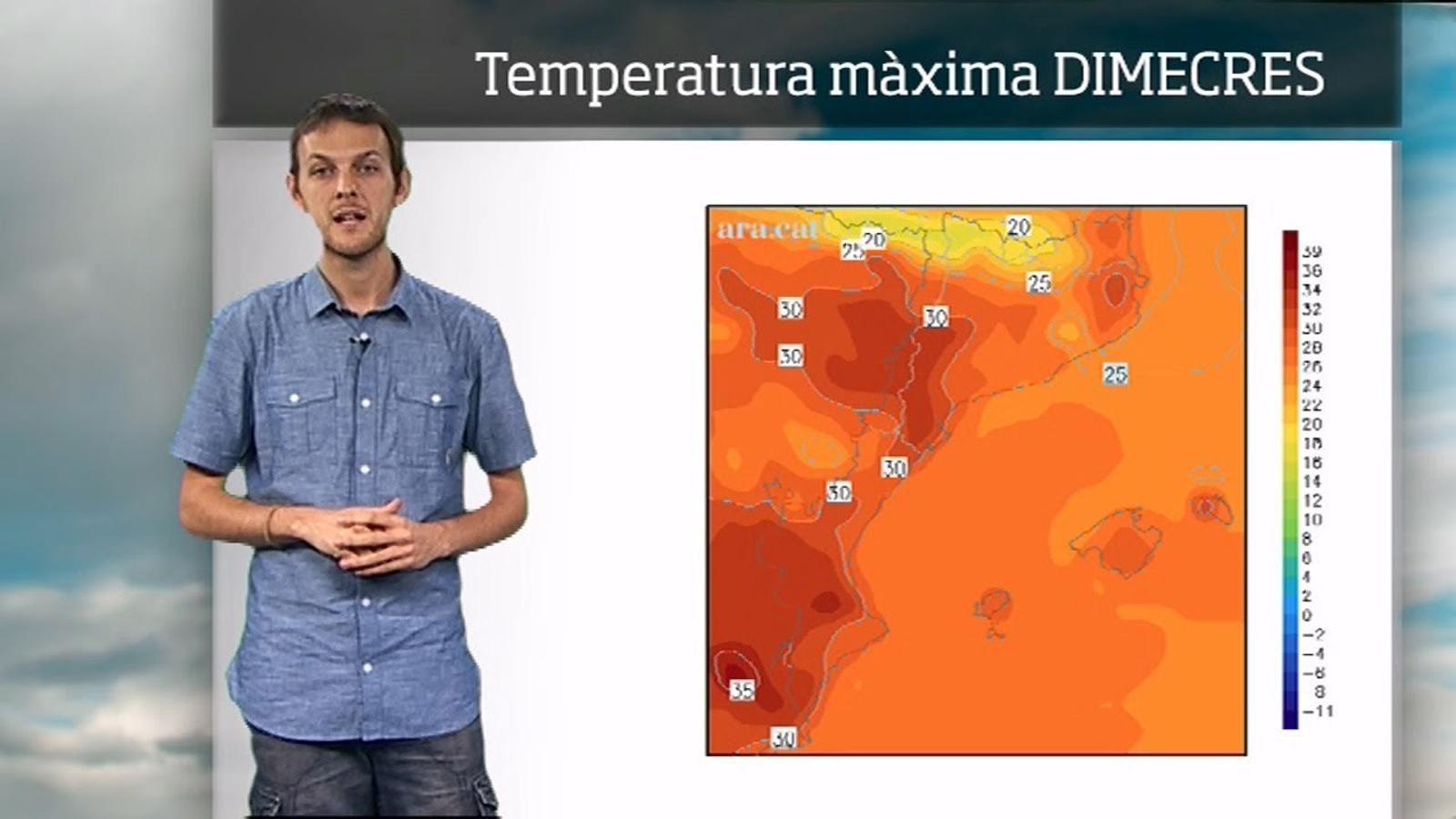 La méteo en 1 minut: cel enterbolit i més calor