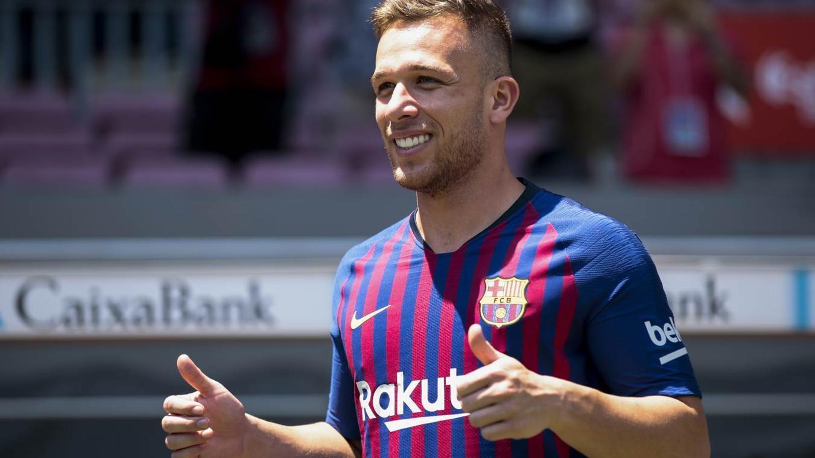 Arthur Melo, presentat com a nou jugador del Barça