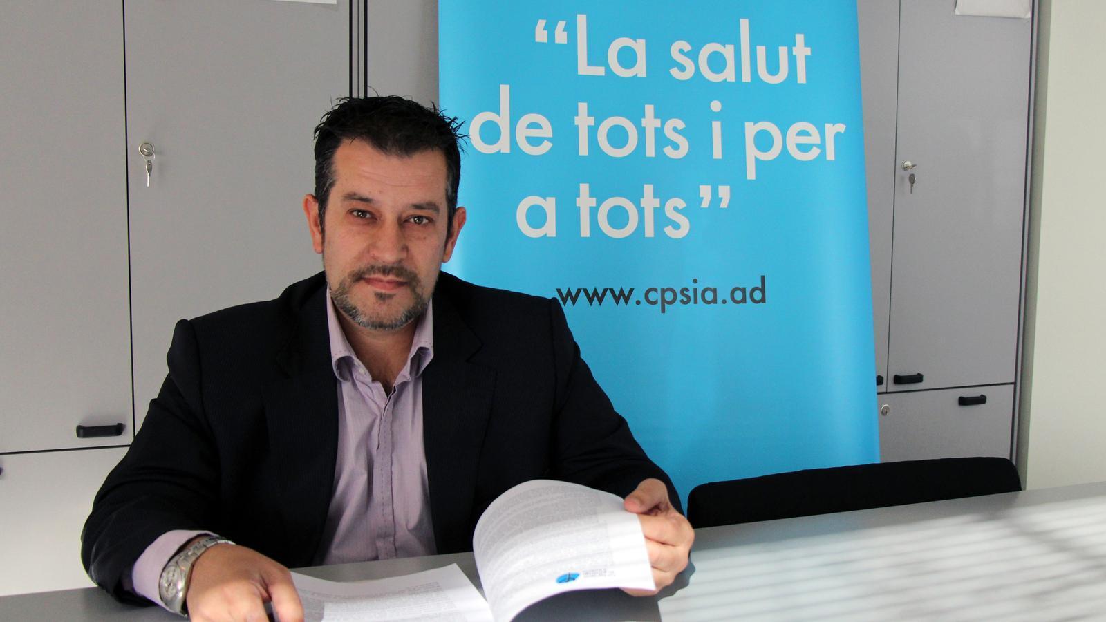 El president del CPSIA, Òscar Fernández. / C.G.
