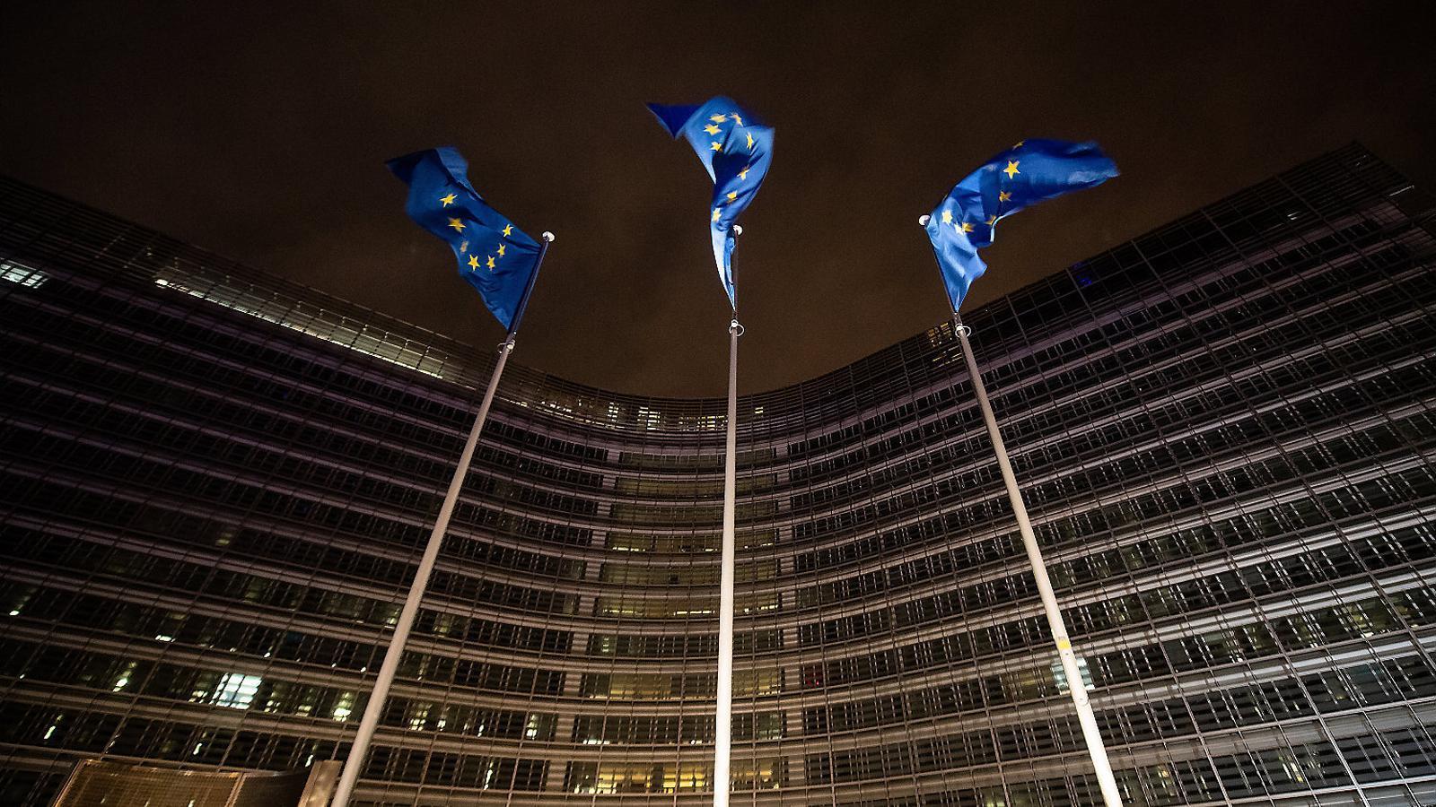 Imatge de l'edifici seu del parlament europeu a Brussel·les.