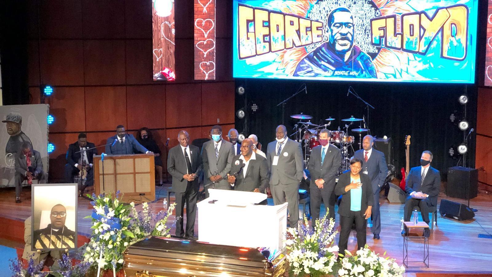 Acte en memòria de George Floyd, aquest dijous a Minneapolis