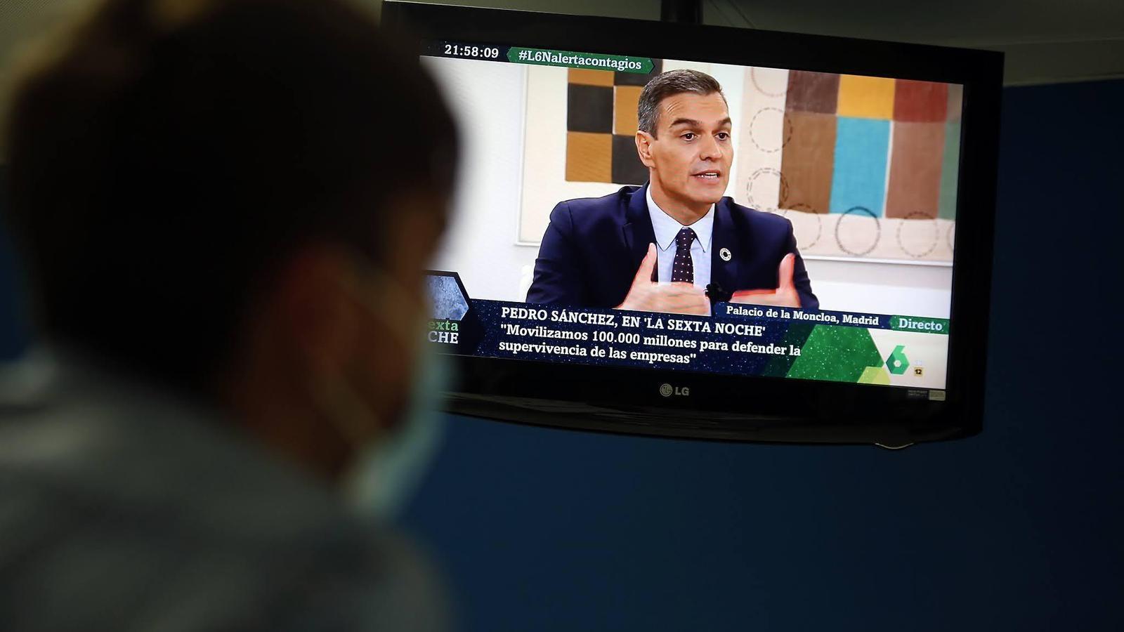 Sánchez durant l'entrevista a La Sexta