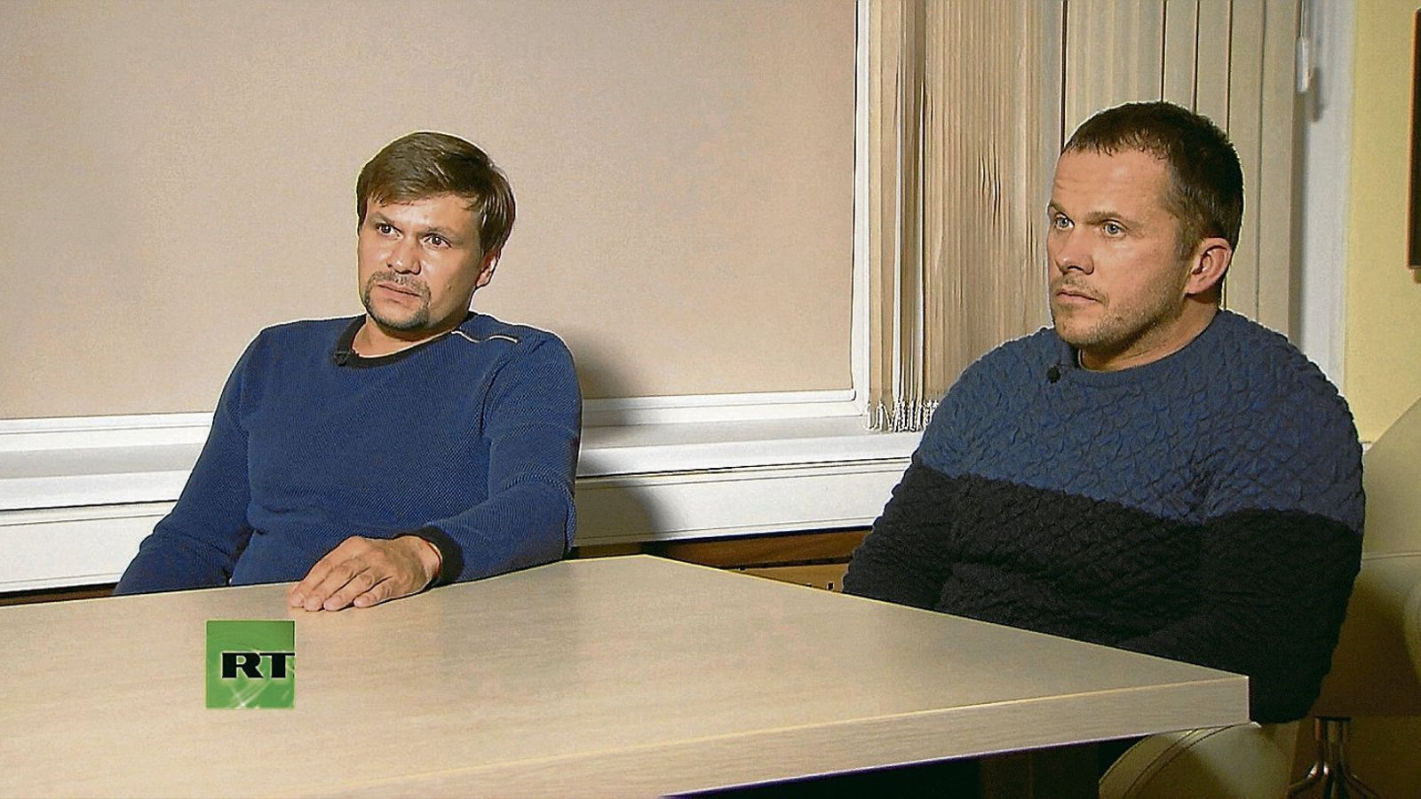 Alexandr Petrov i Ruslan Boixirov en un moment de l'entrevista d'ahir, emesa per la cadena estatal russa RT.