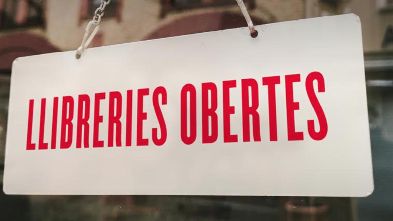 Un cartell de Llibreries Obertes