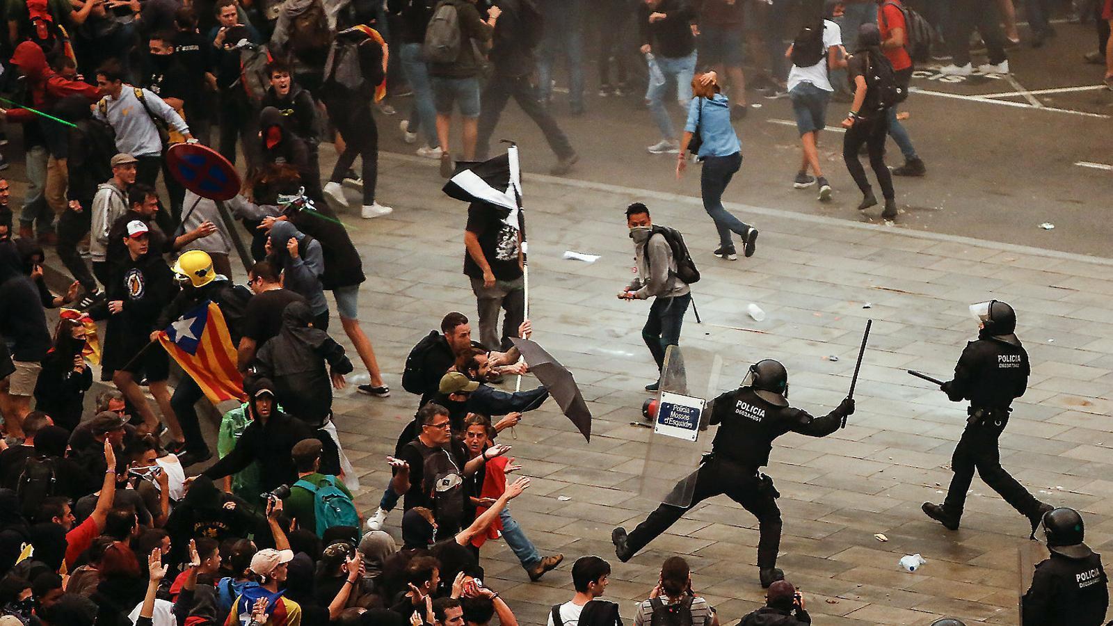 La protesta supera el Govern