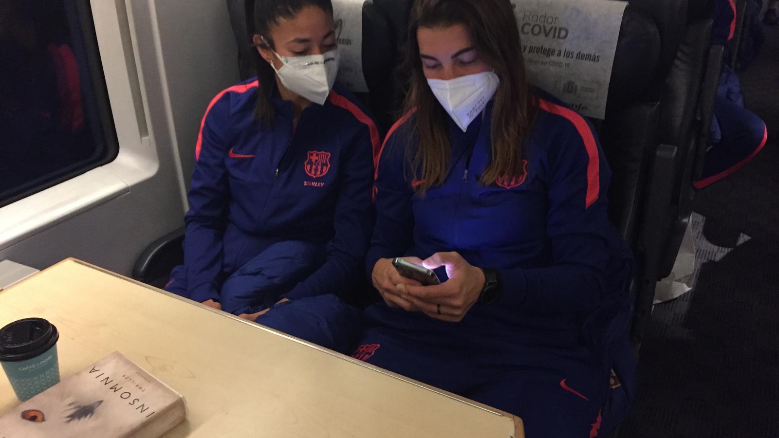 Les jugadores, camí de Madrid