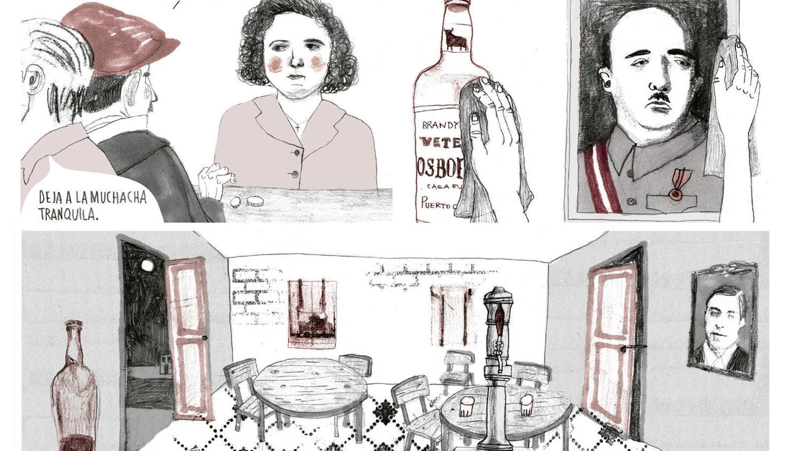 01. Estamos todas bien recorda els dies en què l'àvia de Penyas treballava   En un bar.  02. La Maruja, ja gran, veient passar les hores asseguda al sofà: la soledat de la vellesa.