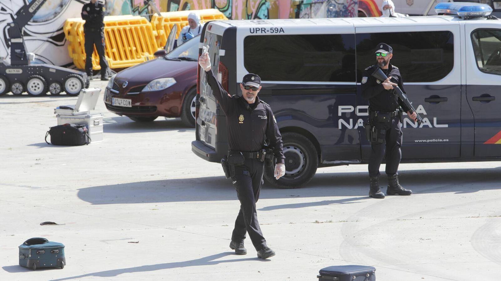 La intervenció policial s'ha saldat amb dos detinguts que residien a Maó.