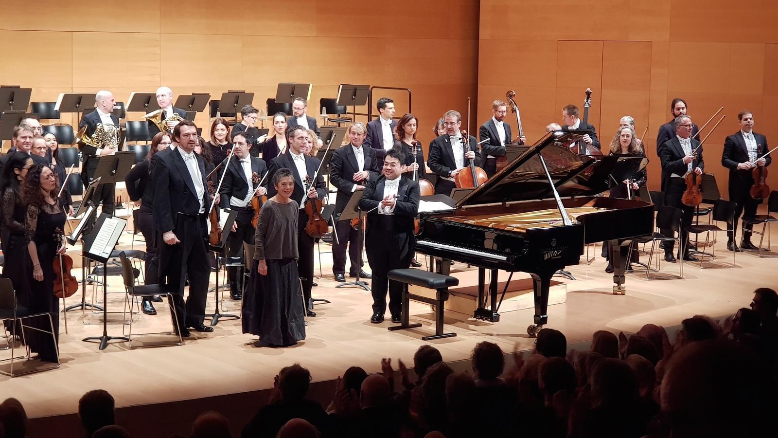 La pianista portuguesa Maria João Pires al concert d'Ibercamer a l'Auditori de Girona