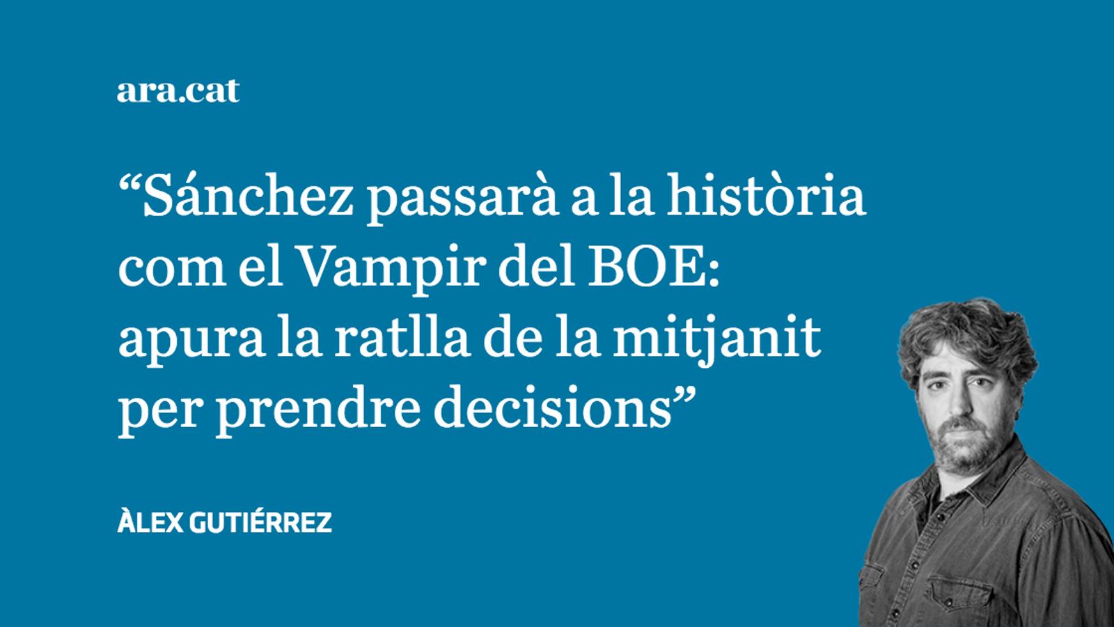 Els problemes de Sánchez i les seves decisions de mitjanit