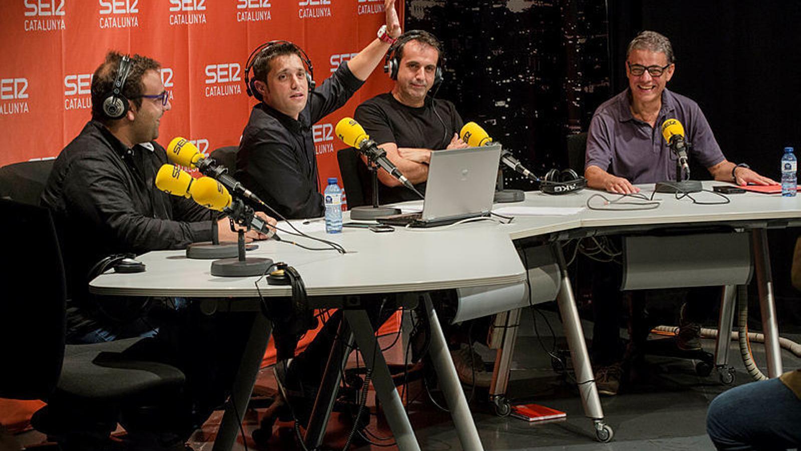 D'esquerra a dreta, Gerard Romero, Sique Rodríguez, Lluís Flaquer i Joaquim Maria Puyal, en una imatge d'arxiu