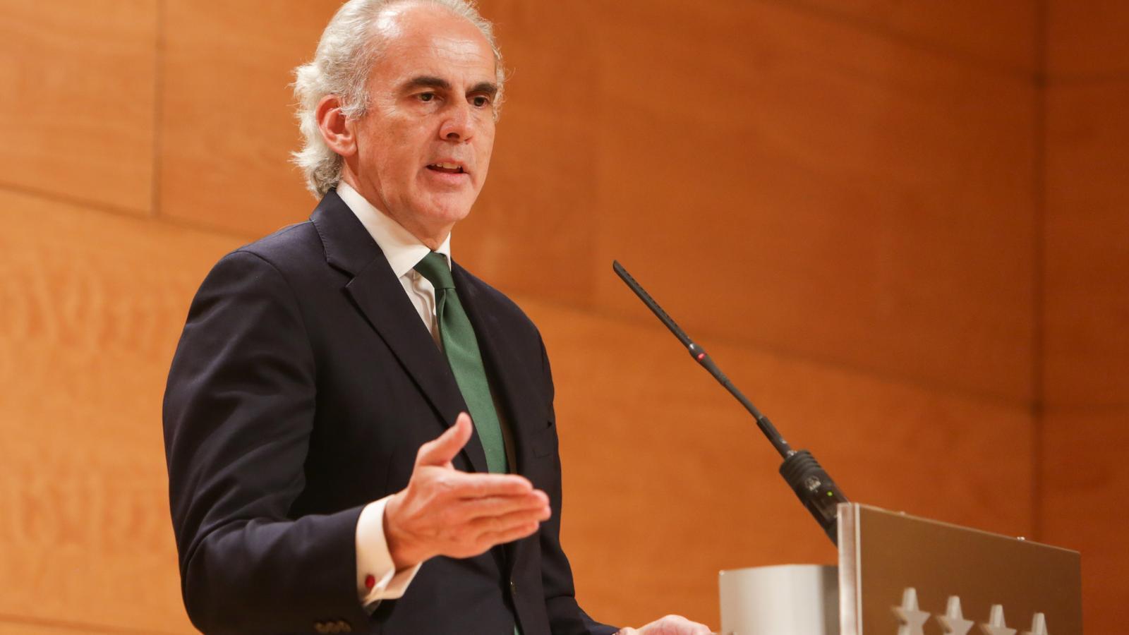 El conseller de Sanitat de la Comunitat de Madrid, Enrique Ruiz Escudero.