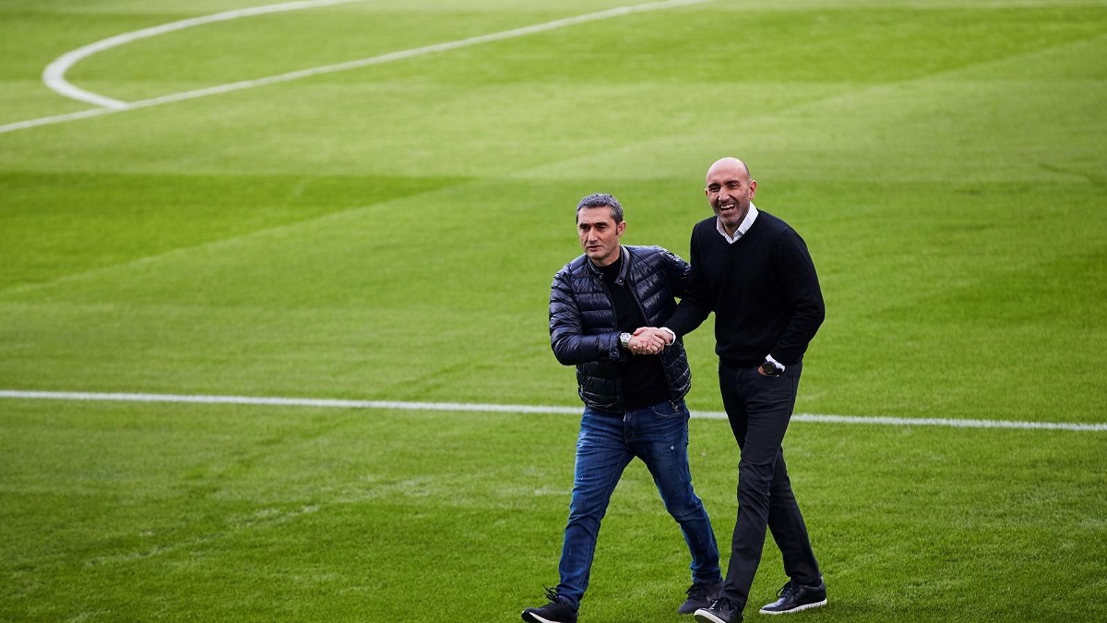 Ernesto Valverde i Abelardo Fernández, a la prèvia del derbi