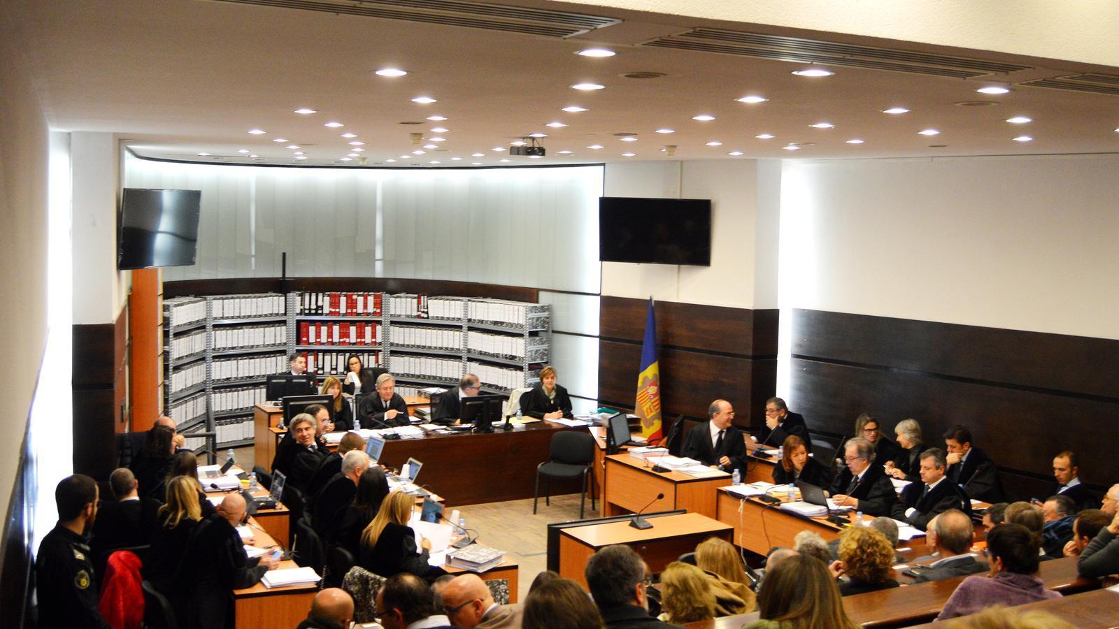 La sala on es va celebrar l'inici del judici a mitjans de gener. / M. F. (ANA)