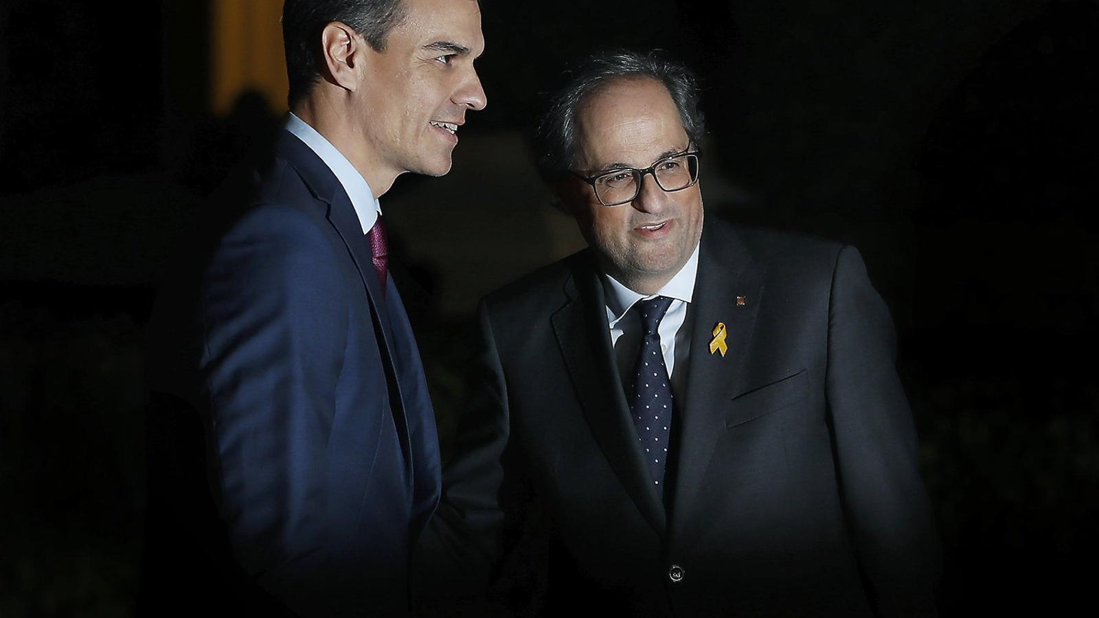 Torra i Sánchez reprenen amb recels el camí del diàleg