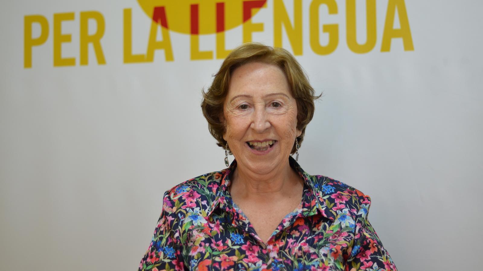 L'escriptora i activista en defensa de l'ensenyament en valencià, Carme Miquel