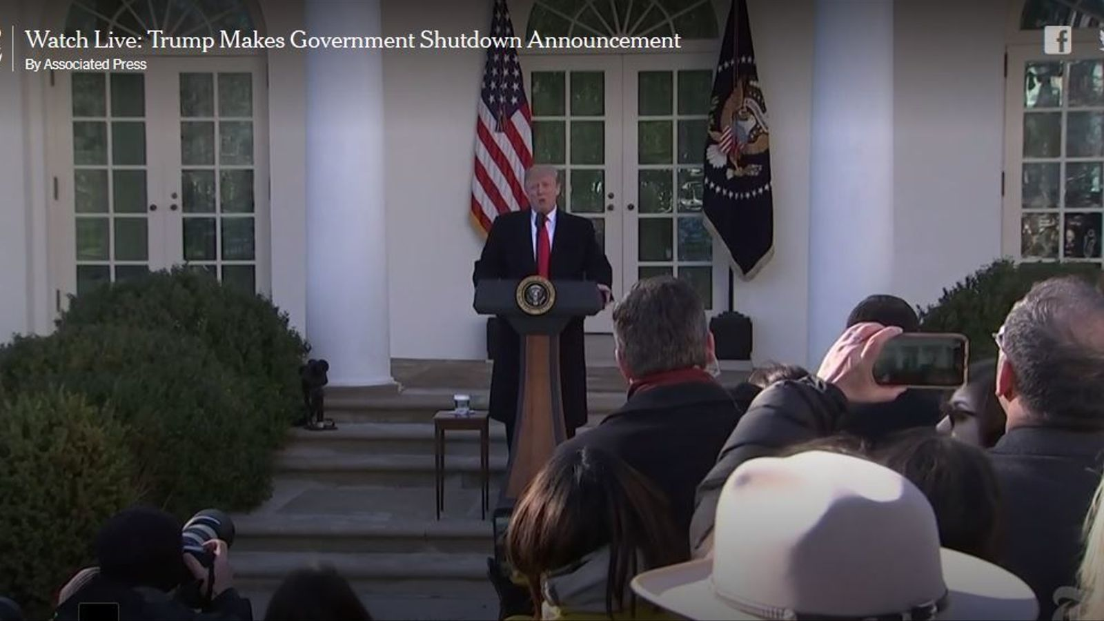 Trump anuncia un acord per reobrir temporalment el govern