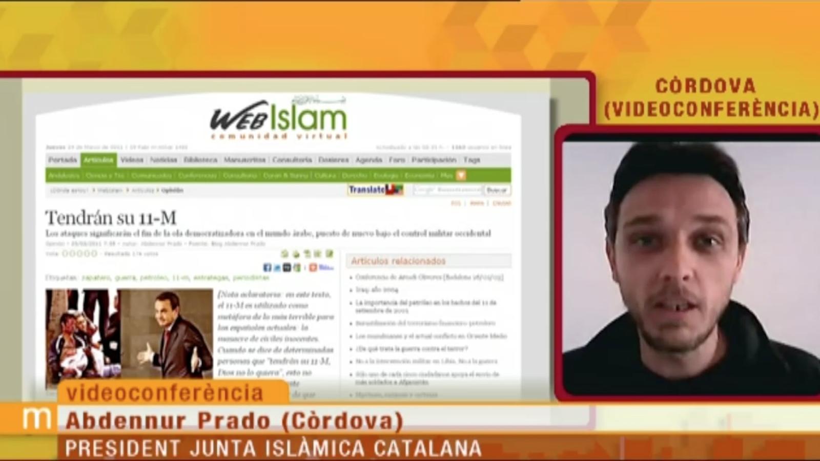 """Abdelnur Prado a 'Els Matins de Tv3': """"convertir un al·legat contra la violència en una al·legat a favor de la violència és una bajanada"""""""