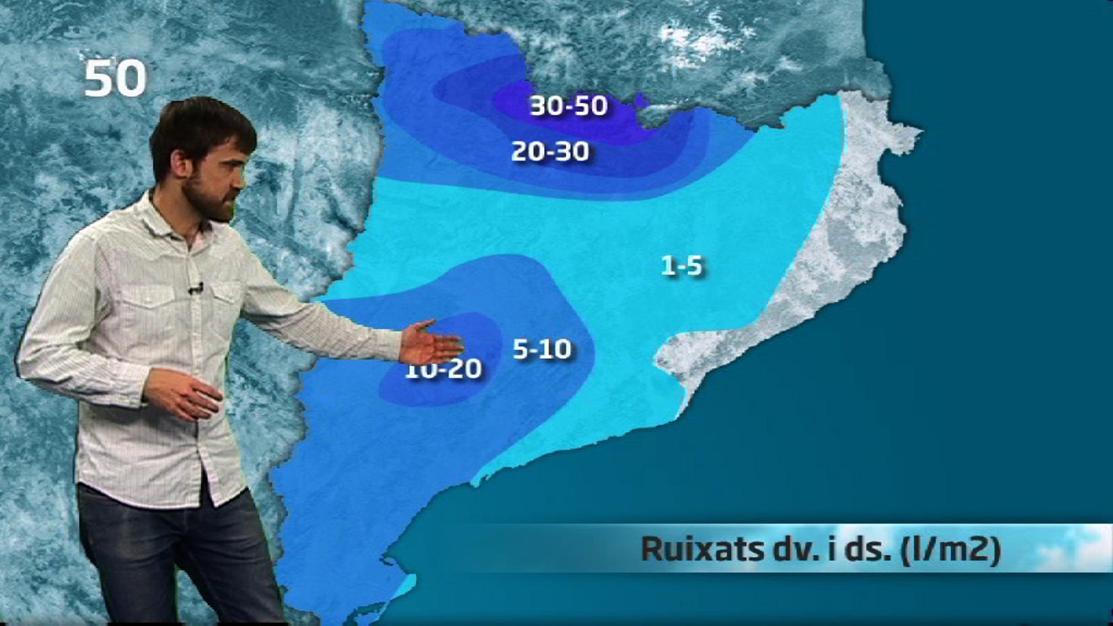 La méteo en 1 minut: xàfecs de tarda abans d'un inici de Setmana Santa tranquil (11/04/14)