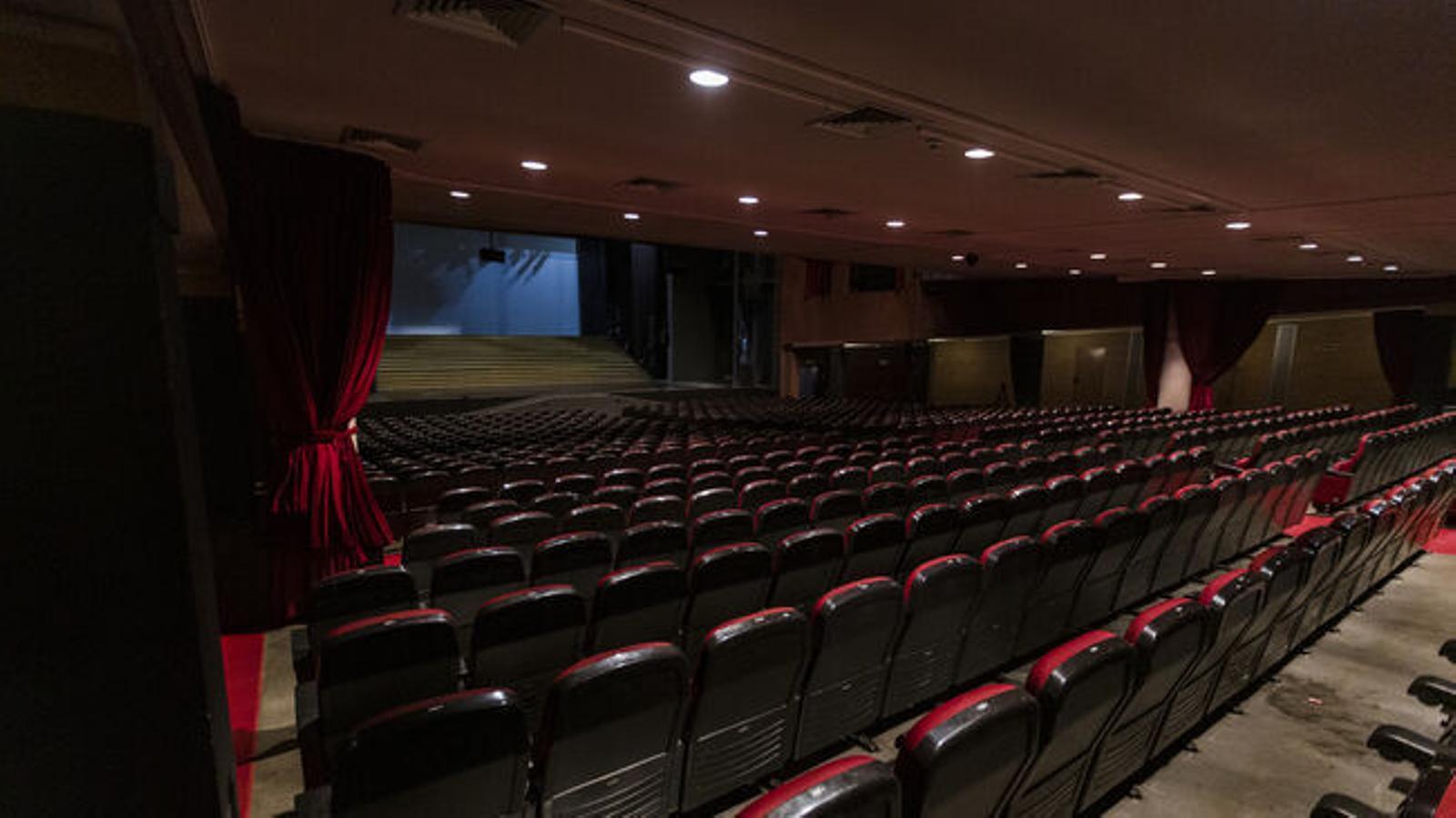 El teatre Victòria amb seients buits en una imatge d'arxiu