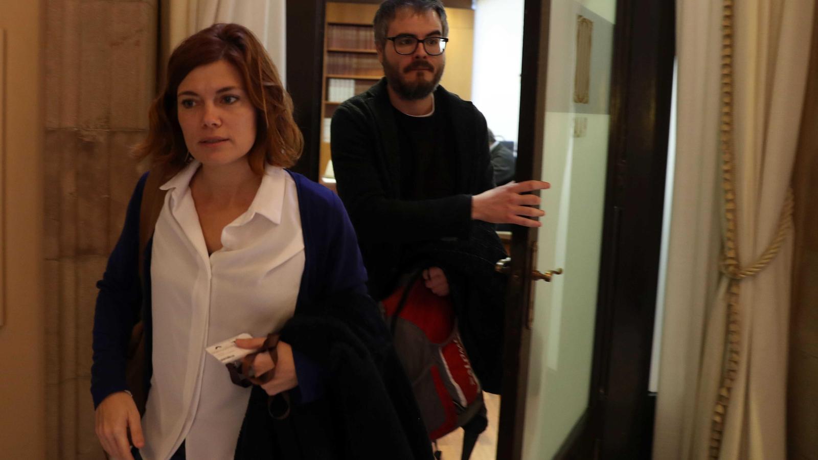 La portaveu parlamentària de Catalunya en Comú - Podem, Elisenda Alamany, i el fins ara coordinador del grup, Marc Grau / EFE